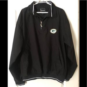 Spotlight Green Bay Packer Black Pullover Jacket
